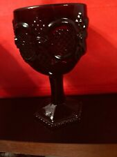 "Avon Cape Cod 1876 Collection Water Goblet Vgc Ruby Red 6"" tall"