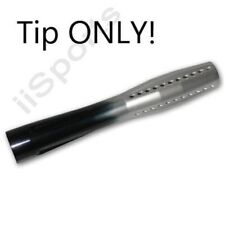 """12"""" Silver/Black Evil Paintball Pipe Ultra Barrel Vented Aluminum Front Tip Only"""