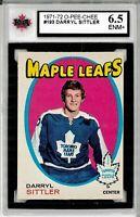 1971-72 O-Pee-Chee #193 Darryl Sittler - Graded 6.5 (052619-25)