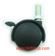 "4/pk 1.5"" furniture swivel casters/wheel w/ threaded stem & brake replacement"