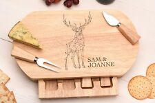 Personalised Cheese Board Gift, CHEESE GIFT SET, STAG DESIGN, New Home gift CB
