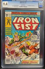 Iron Fist #14 Marvel Comics CGC 9.4 NM 1975 First Sabretooth WHITE pages