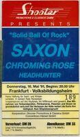 Sammlerticket für SAXON+Chroming Rose+Headhunter '91 in FFM (foliert zum Schutz)