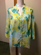 Alfred Dunner 18W Floral Print Shirt