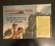 Vintage American Flyer Trains Catalog