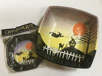 Vintage Halloween Ullman Chyna Plates & Matching Ullman Bowl Signed RARE
