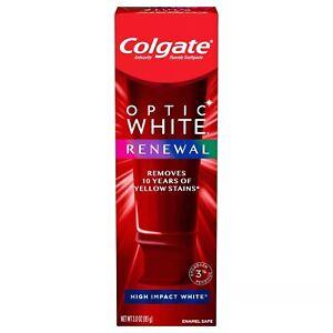 *USA FORMULA*Colgate Optic White RENEWAL Toothpaste High Impact White EXP Dec 21
