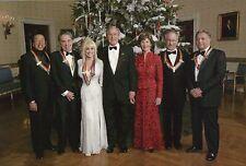 President George W. Bush Laura Bush Dolly Parton Steven Spielberg etc - Postcard