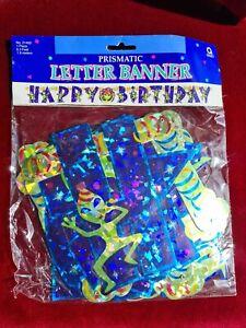 Alien Happy Birthday banner