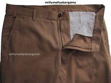 NUOVA linea uomo Marks & Spencer Marrone Pantaloni Slim Vita 44 Gamba 31 etichetta guasto