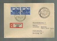 1941 Hoppegarten Germany Registered Cover to Regensberg Horse Racing Cancel