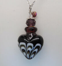 PURPLE HEART CREMATION JEWELRY CREMATION URN NECKLACE PENDANT MEMORIAL URNS