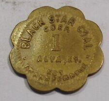 Alva, Kentucky Token.  Black Star Coal Corp.  1¢.  Harlan County, KY