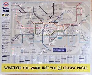 VERY LARGE LAMINATED LONDON UNDERGROUND MAP