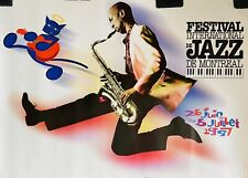 """Poster  -  Montreal Jazz Festival    -   1997 -  Size 36"""" x 27"""""""