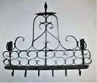 Early Scroll Iron Wall Sconce With Hooks