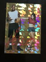 Shaquille ONeal & Cindy Crawford Gold Foil Autograph Prism Shaq Pepsi Promo NMMT