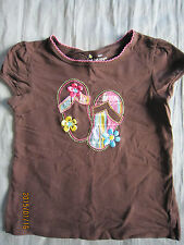 Jumping Beans Girl Brown Round Neck Short Sleeves T-Shirt (4yo) 1pcs