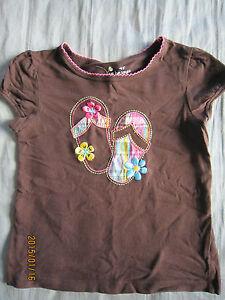 Jumping Beans Girl Brown Round Neck Short Sleeves T-Shirt (4yo) 1pcs