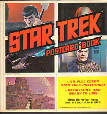 Star Treck 1977 Postcard Book Captain Kirk Sci-Fi TV UnUsed MINT WH
