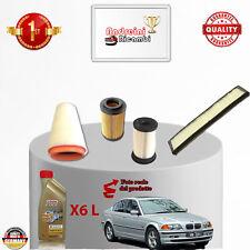 KIT TAGLIANDO 4  FILTRI E OLIO BMW SERIE 3 E46 320 D 100KW 136CV DAL 1998 ->