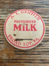 A.T. GRIFFITH ~ Broad Top, Pa Milk Bottle Cap