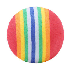 Soft Foam Pet Toy Rainbow Ball Play Training Playground 10Pcs Chase Play Tool CO