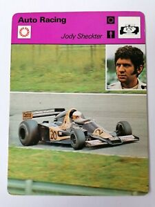 Editons Recontre - Sportscaster Cards - Auto Racing - Jody Sheckter - 41-20 1978