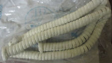 White 12' Coiled Handset Cord Nos