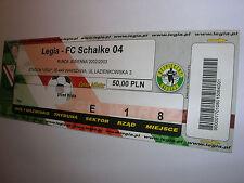 used ticket LEGIA Warsaw - SCHALKE 04 Gelsenkirchen 29.10.2002