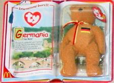 McDonalds Ty TEENIE Beanie Baby 2000 GERMANIA International BEAR GERMANY Teddy