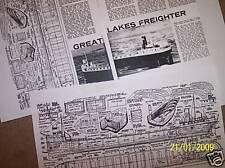 great lakes ship boat model boat plan