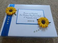 Wedding guest book GIRASOLE mozzafiato personalizzata qualsiasi colore della barra multifunzione!!