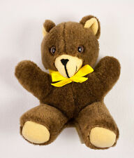 "Applause Brown Teddy Bear 6"" Plush Knickerbocker Stuffed w/ Nutshells Vtg 1981"