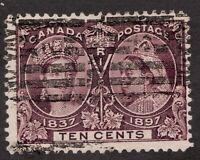Sc57 - Canada - 10 Cent - 1897 Diamond Jubilee - Used - superfleas - cv $120