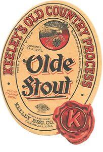 Keeley's Olde Stout IRTP Label