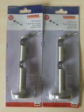 2 x Gardinia Doppel-Kombiträger Chicago Edelstahl-Optik Ø 20 mm Gardinenstange