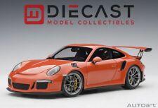 AUTOart 78168 Porsche 911(991)GT3 RS Lava Orange/Dark Grey Wheels 1:18TH Scale