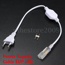 220-240V LED Flexible Strip Tape Rope Light 2 Pin EU Plug 6mm
