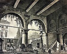 COUPLE DE AEU-FORTES. ENRICHIE AQUARELLE-FUSAIN. GASPARE GALLIARI. ITALIE XVIII