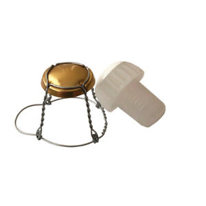 Champagne Stoppers and Wires For Home Brew Sparkling Wine Making Pack 25 Of Each