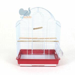 Gabbia per uccelli canarini, cocorite, inseparabili con accessori 41x28x57h cm
