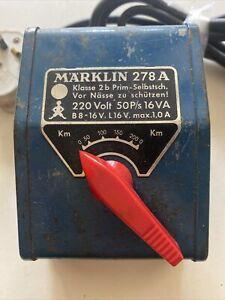 Marklin 278/A Transformer 220V/ 50 P/s 16 VA Tested