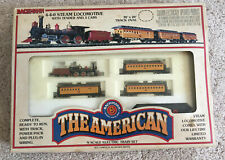 """Bachman N Scale Train Set, """"The American""""  with Tender and 3 Passenger Cars"""