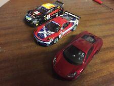 3x Scalextric DPR Cars Aston Martin McLaren P1 Ferrari F430