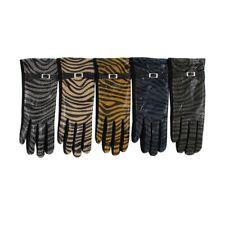 Women's Zebra Print Gloves Design Style Winter Fashion Animal Pattern Gloves