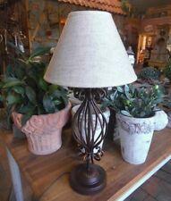 LANDHAUS LAMPE TISCHLAMPE LANDHAUSSTIL METALL TISCHLEUCHTE 52cm H. KOLONIALSTIL