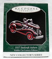 HALLMARK KEEPSAKE ORNAMENT MINIATURE KIDDIE CAR LUXURY 1937 STEELCRAFT AUBURN