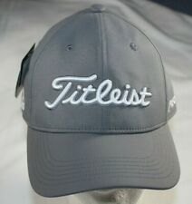 NWT Titleist Junior Tour Performance Golf Hat Cap Gray / White adjustable NEW