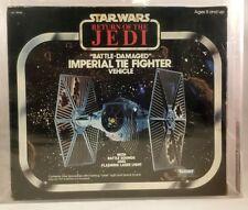 Vintage Kenner Star Wars 1983 ROTJ Battle-Damaged Imperial TIE Fighter AFA 75